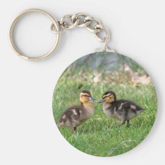 El bebé Ducks la foto Llavero Redondo Tipo Pin