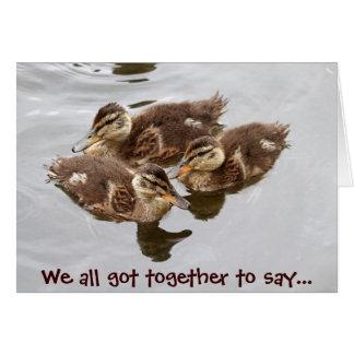 El bebé Ducks la foto Tarjeta De Felicitación
