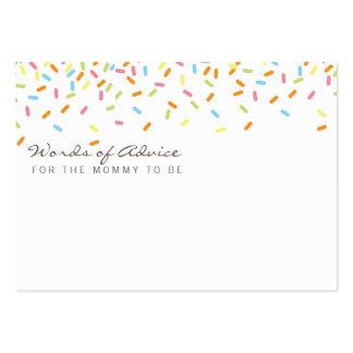 El bebé dulce asperja tarjetas del consejo de la tarjetas de visita grandes