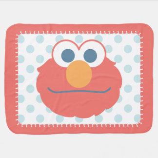 El bebé Elmo hace frente Manta De Bebé