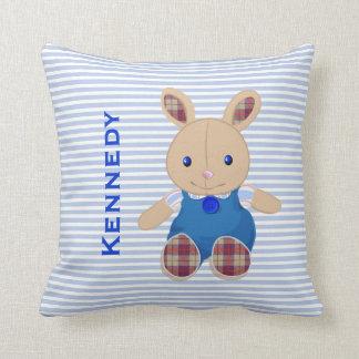 El bebé embroma la almohada personalizada conejo