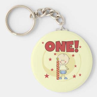 El bebé es camisetas y regalos de un 1ras cumpleañ llavero redondo tipo pin