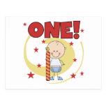 El bebé es camisetas y regalos de un 1ras cumpleañ postales