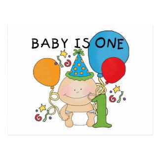 El bebé es las camisetas una y regalos postal