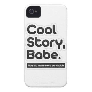 El bebé fresco de la historia, ahora va me hace un iPhone 4 funda