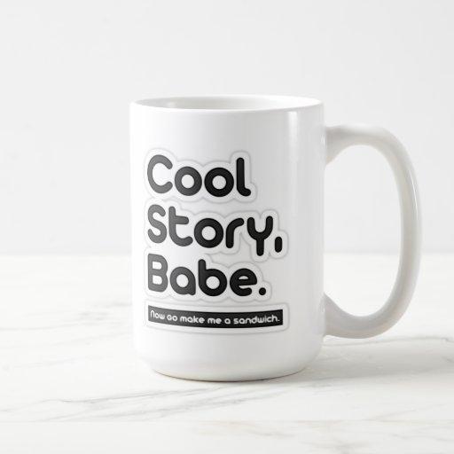 El bebé fresco de la historia, ahora va me hace un tazas de café