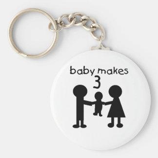 El bebé hace 3 llavero redondo tipo pin