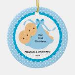 El bebé hermana el primer ornamento del navidad de adornos