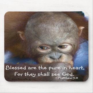 El bebé inocente Blessed es el puro en corazón Alfombrilla De Raton