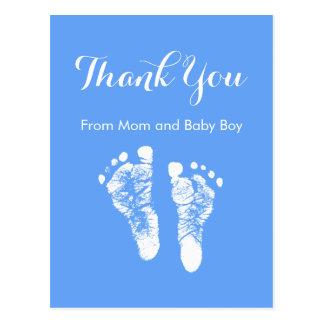 El bebé le agradece las huellas recién nacidas postal