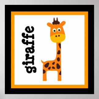 El bebé lindo de los animales del safari de la jir póster