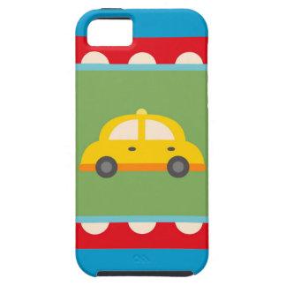 El bebé lindo del tema del transporte del coche iPhone 5 carcasas