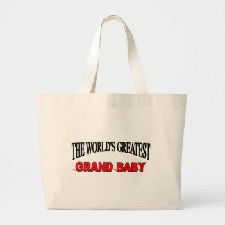 El bebé magnífico más grande del mundo bolsa lienzo