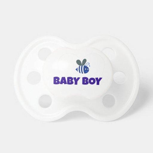 El bebé manosea la abeja chupetes de bebe