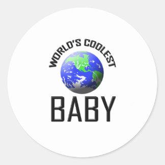 El bebé más fresco del mundo pegatina redonda