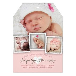 El bebé moderno soña la invitación dulce del nacim