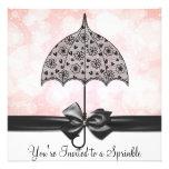 El bebé negro del rosa del paraguas del cordón asp