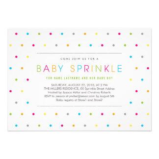 El bebé neutral limpio moderno colorido asperja in anuncio personalizado