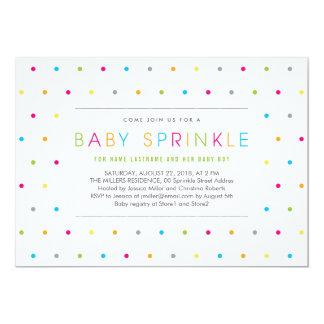 El bebé neutral limpio moderno colorido asperja invitación 12,7 x 17,8 cm