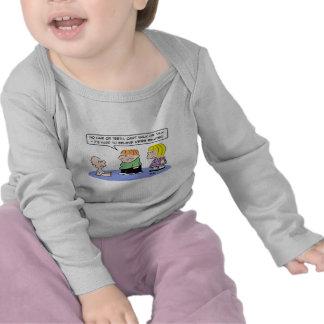 el bebé ningunos dientes del pelo cree relacionado camiseta