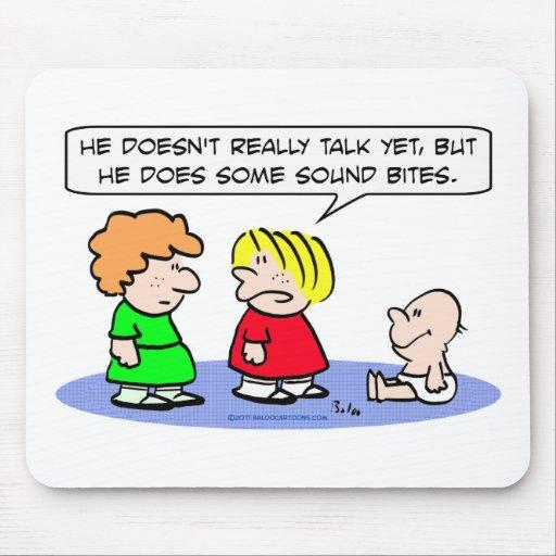 el bebé no puede hablar eslóganes tapetes de raton