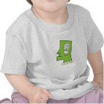 El bebé piensa verde camiseta