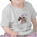 El bebé primero habla como un día del pirata camisetas