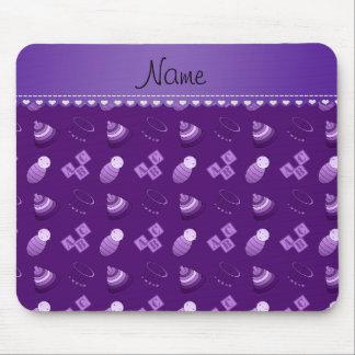 El bebé púrpura conocido personalizado bloquea los tapete de ratón