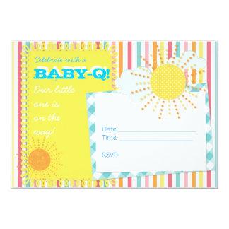 El Bebé-q junta la invitación de la fiesta de