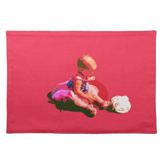 el bebé que sentaba y que jugaba pascua rosada pos manteles