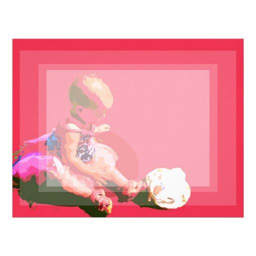 el bebé que sentaba y que jugaba pascua rosada pos membrete