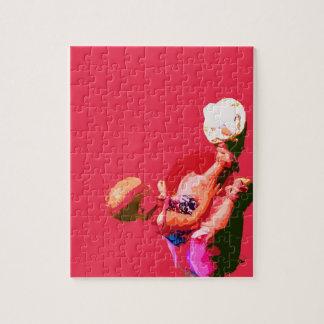 el bebé que sentaba y que jugaba pascua rosada pos rompecabeza