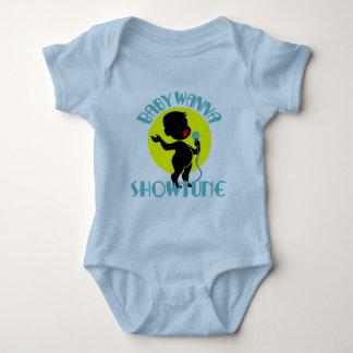 El bebé quiere a Showtune (muchacho Body Para Bebé