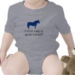 El bebé quiere el potro traje de bebé
