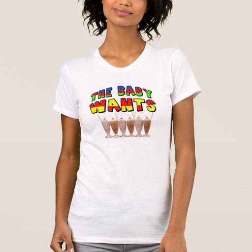 El bebé quiere la camiseta de la maternidad del remera