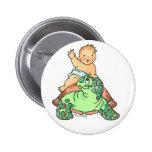 El bebé recién nacido monta el botón de la tortuga pin