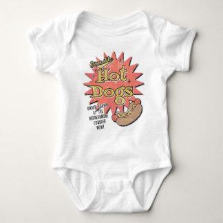 El bebé retro del perrito caliente crece body para bebé