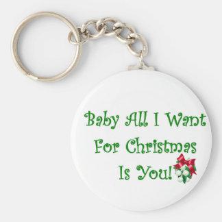 El bebé todo lo que quiero para el navidad es uste llavero