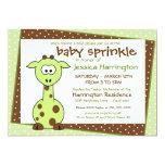 El bebé verde de la jirafa asperja invitaciones anuncio personalizado