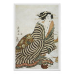El bebedor enojado, Kiyomitsu II, 1830 Posters