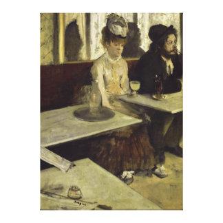 El bebedor o el L'Absinthe del ajenjo de Edgar Deg Lona Envuelta Para Galerias