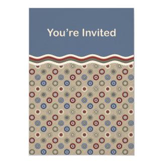 """El beige azul y las dianas de Borgoña invitan Invitación 5"""" X 7"""""""