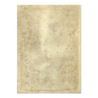 """El beige oscuro del vintage en blanco envejeció el invitación 4.5"""" x 6.25"""""""