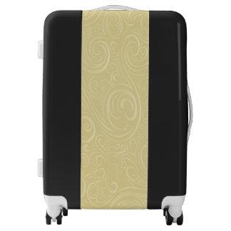 El beige remolina maleta mediana del equipaje del