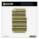 el BEIGE VERDE de stripes69 BROWN RAYA LOS COLORES iPod Touch 4G Calcomanías