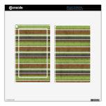 el BEIGE VERDE de stripes69 BROWN RAYA LOS COLORES Pegatinas Skins Para Kindle Fire
