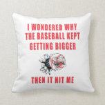 El béisbol almohadas