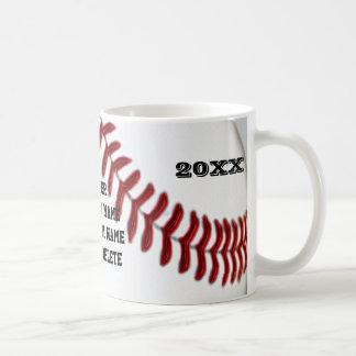 El béisbol asalta 3 cajas de texto para el jugador taza de café