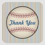 El béisbol azul le agradece los pegatinas calcomanías cuadradas