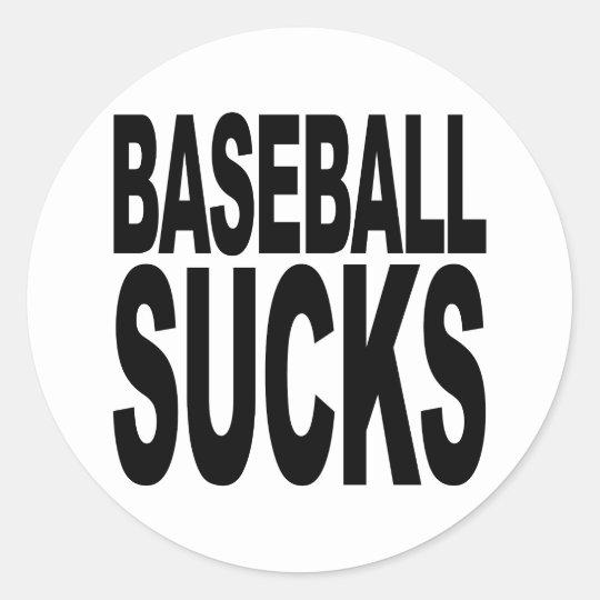 El béisbol chupa pegatina redonda